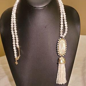 Kendra Scott beautiful long white bead necklace